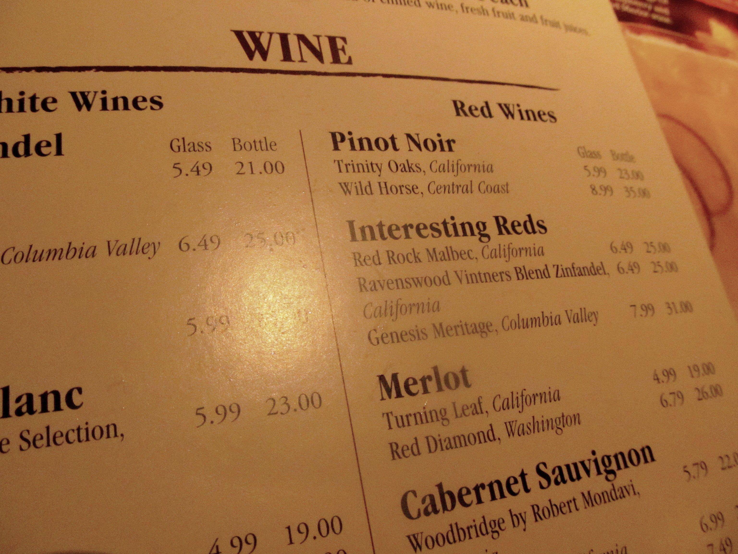 restaurant wine problems